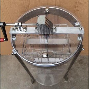 2 frame manual transparant plexiglass honey extractor
