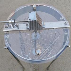 3 frame manual transparant Plexiglass honey extractor