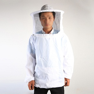 Beekeeping equipment white polyester cotton bee clothing for sale