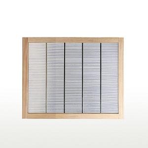 Beekeeping supplies wooden frame metal bee queen excluder