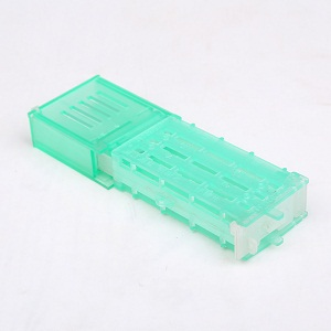 Beekeeping tools blue plastic double house queen bee cage for sale
