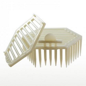 Beekeeping tools double cover plastic queen bee cage for sale