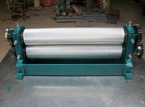 Roller length 500mm Manual beeswax foundation sheet machine