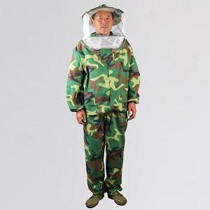 Beekeeping equipment camouflage full body beekeeper suit for sale