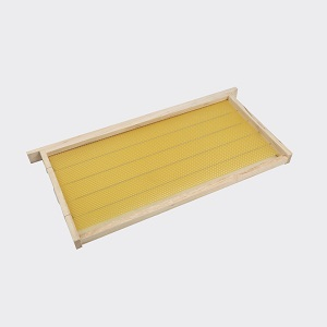 Beekeeping wired honey bee hive frames with foundation sheet